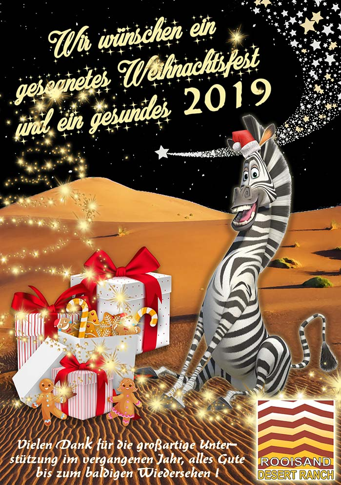Weihnachtsgrüße aus Namibia