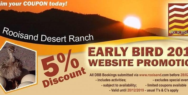 Early Bird 2019 Website Promotion