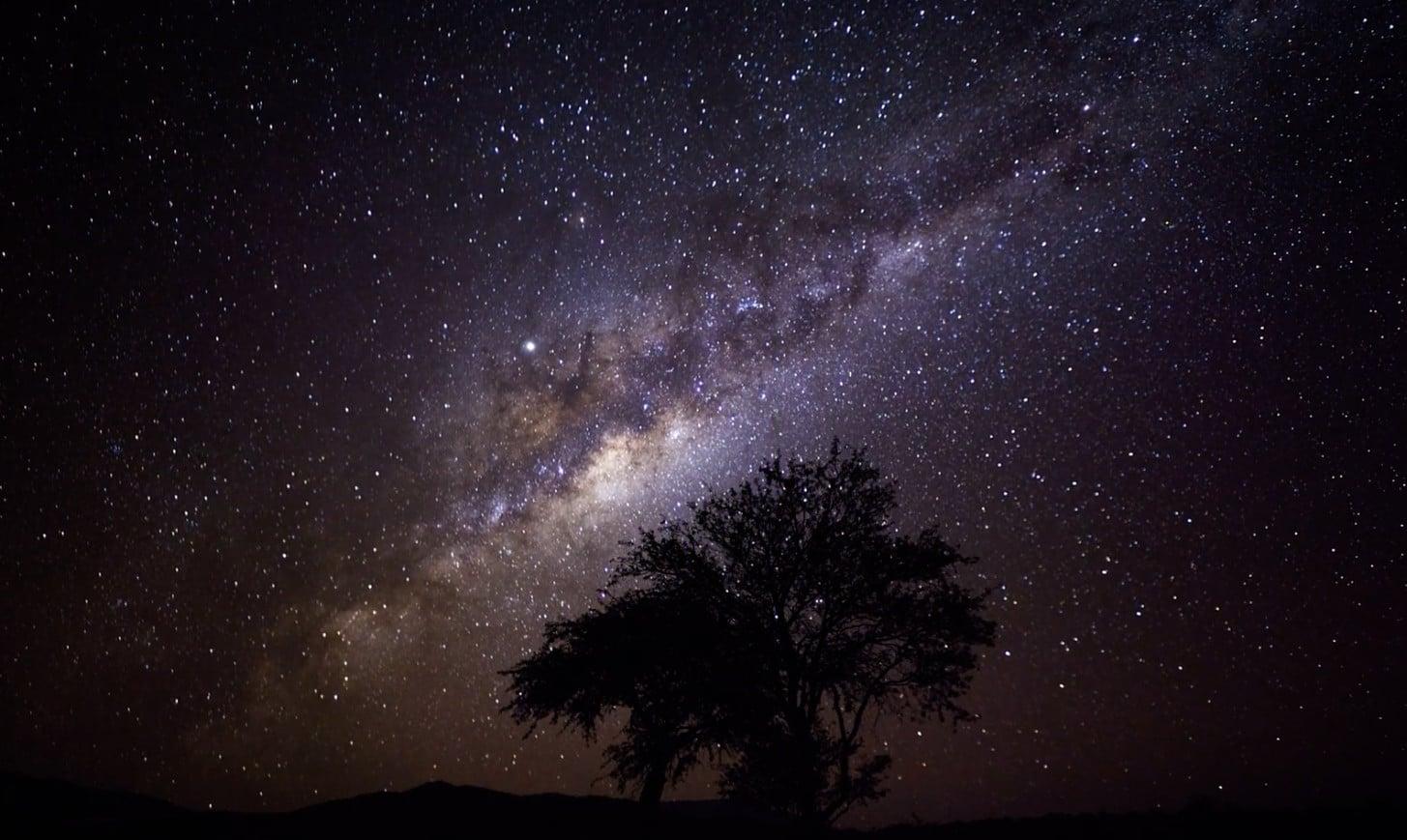 Einbruch der Nacht in Namibia