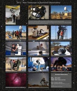 Poster Montage Teleskope und Montierung